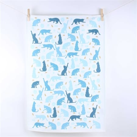 Milly Green Cats Tea Towel