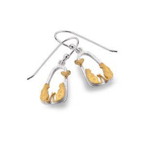 Cats in Love earrings