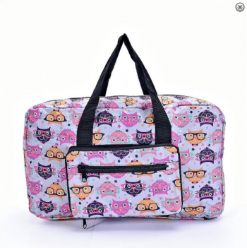 Cats in Glasses Eco Foldable Holdall - grey