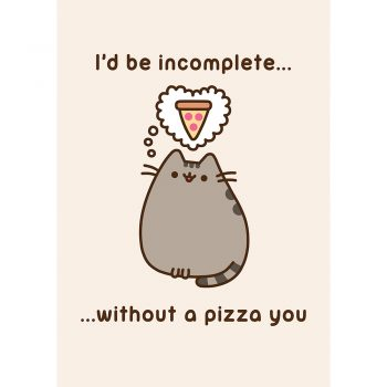 Pusheen Pizza You card