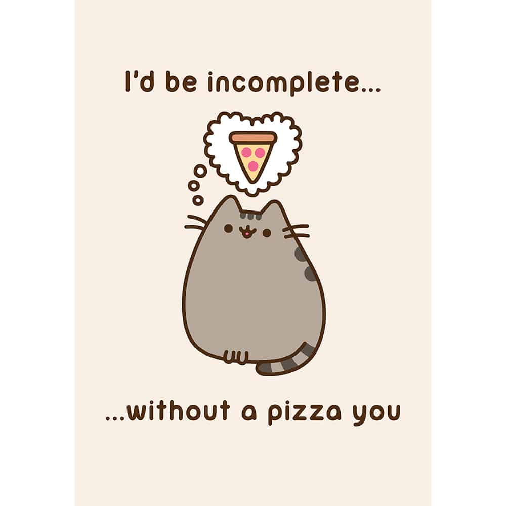 Pusheen Pizza You Card Meowco