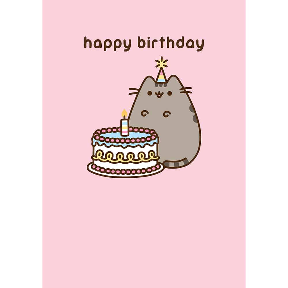Pusheen Birthday Cake Card Meowco