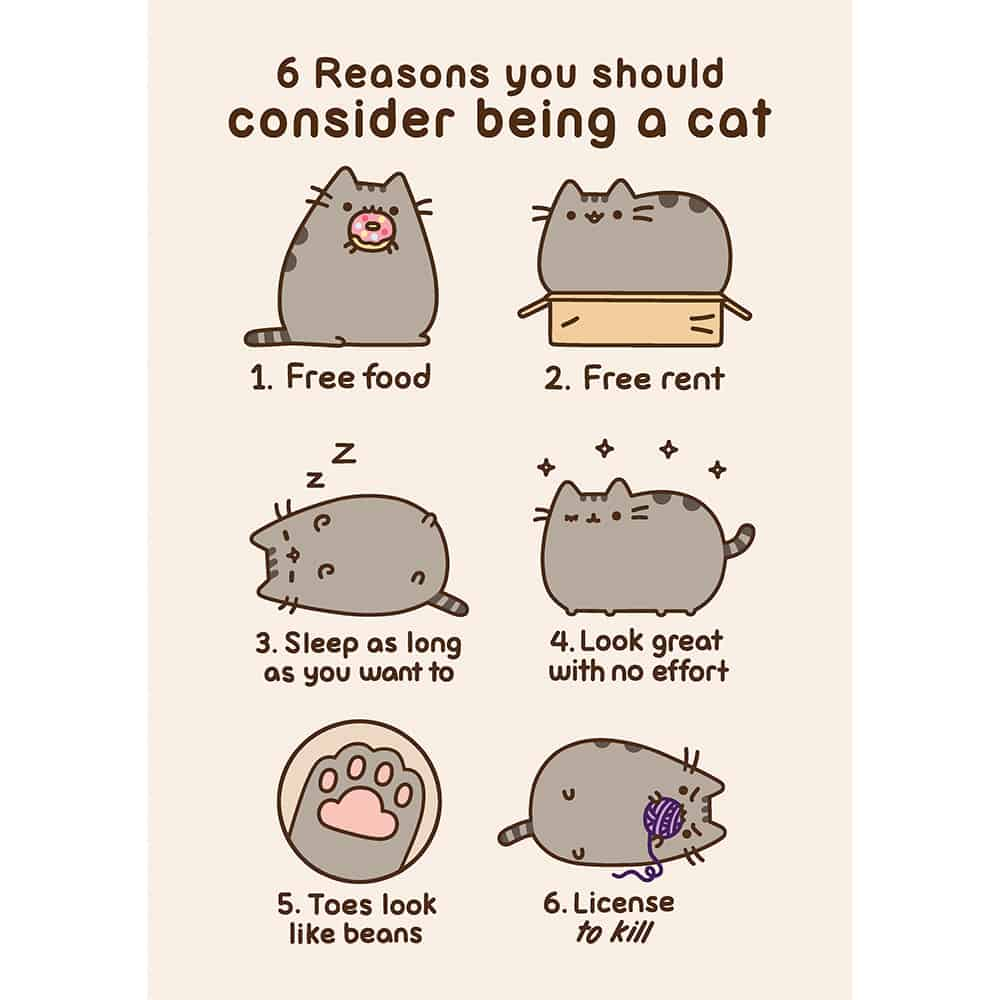 Pusheen Reasons For Being A Cat Card Meowco