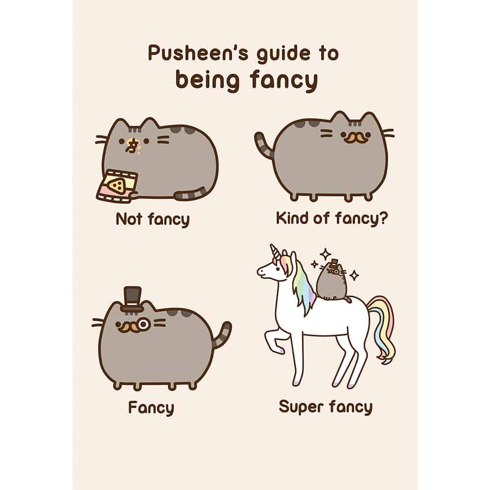 pusheen fancy card � meowco