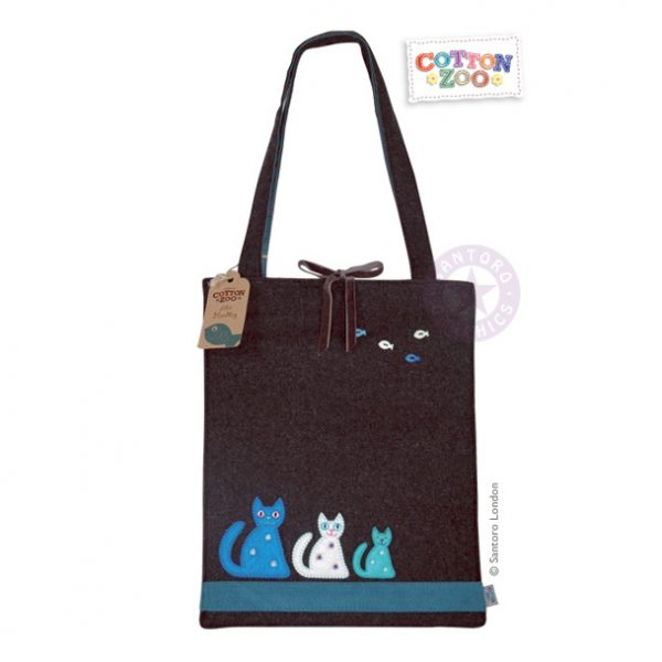 Cotton Zoo - Cat & Fish Tote Bag